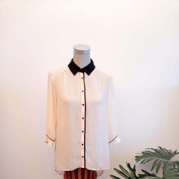 H&M hi-lo sheer blouse size 8